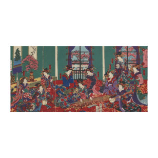 Japanese Musicians Stretched Canvas Prints