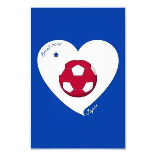 Japanese National Soccer Japan Team 2014 Nippon Photographic Print