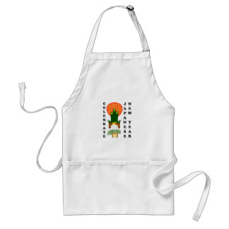 Japanese New Year Adult Apron