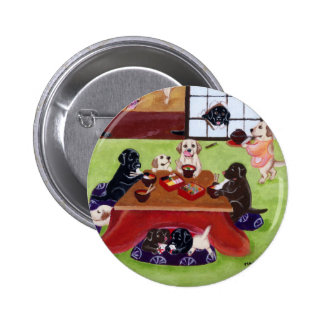 Japanese New Year s Day Labradors Pinback Button