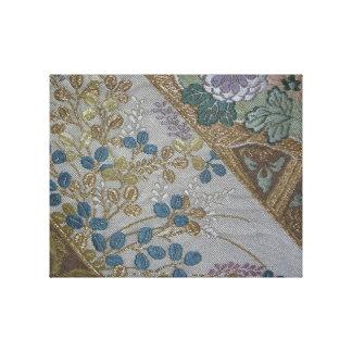 Japanese Obi Triptyche - Part 3 Canvas Print