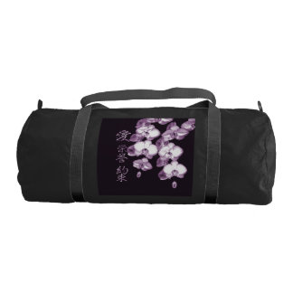 Japanese Orchids in Plum Gym Bag