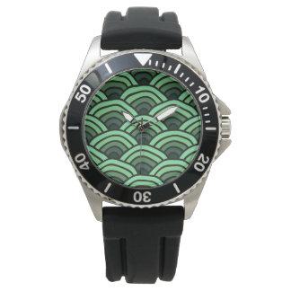 Japanese ornament pattern design watch