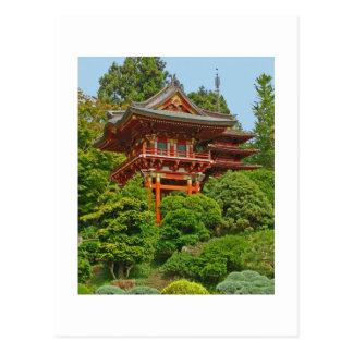 Japanese Pagoda photo painting postcard