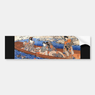 Japanese Painting c. 1800's Bumper Sticker
