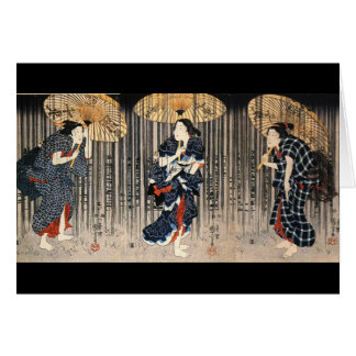 Japanese Painting c. 1800's Card