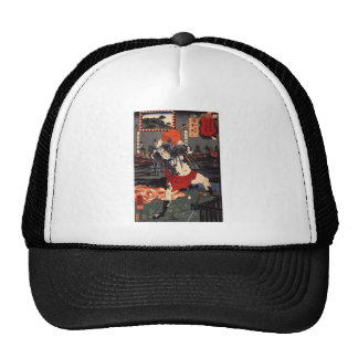 Japanese Painting c. 1800's Hats