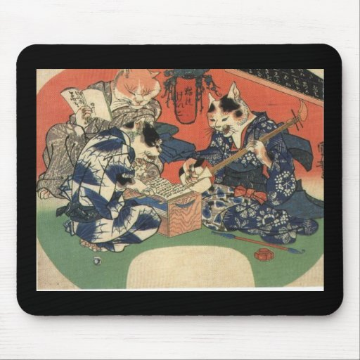Japanese Painting c. 1800's Mousepad