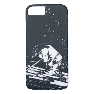 Japanese Painting Hanaikada in Black&White iPhone 8/7 Case