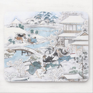Japanese Painting of the 47 Ronin Fighting Samurai Mouse Pad
