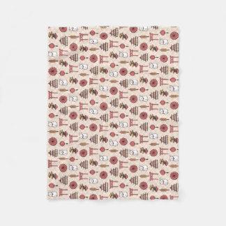 Japanese Pattern Fleece Blanket