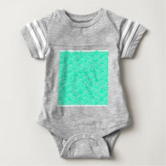 Japanese Pattern in Green Baby Bodysuit