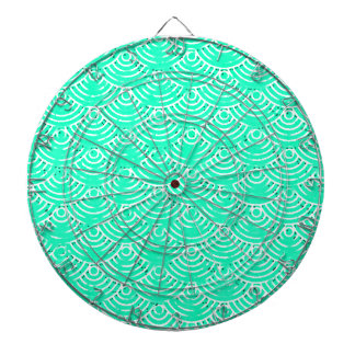 Japanese Pattern in Green Dartboard
