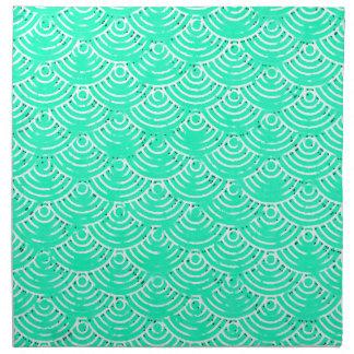 Japanese Pattern in Green Napkin