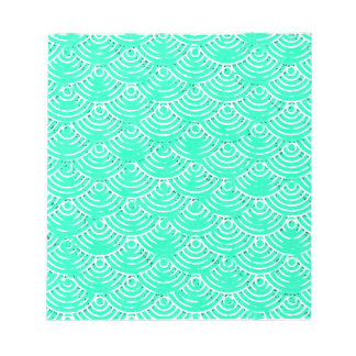 Japanese Pattern in Green Notepad