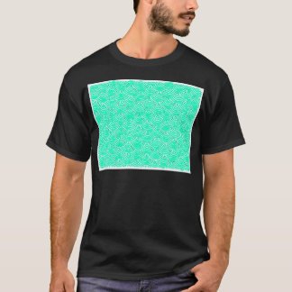Japanese Pattern in Green T-Shirt