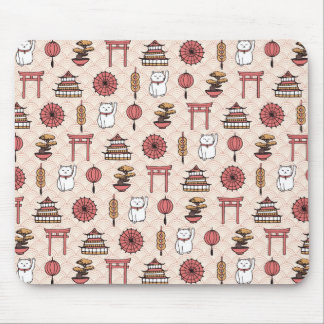 Japanese Pattern Mouse Pad