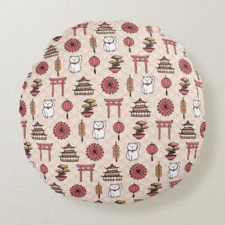 Japanese Pattern Round Cushion