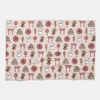 Japanese Pattern Tea Towel