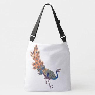 Japanese Peacock Bird Scroll Art Tote Bag