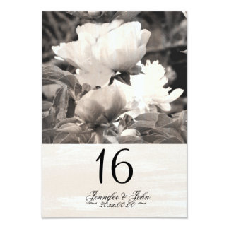 Japanese Peony Country Wedding Table Number Card 9 Cm X 13 Cm Invitation Card