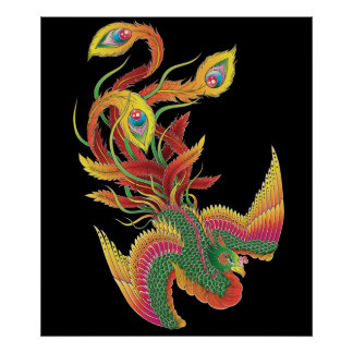 Japanese Phoenix Poster