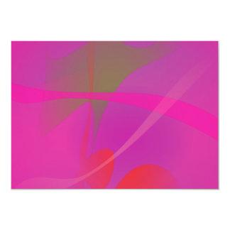 Japanese Pink 13 Cm X 18 Cm Invitation Card