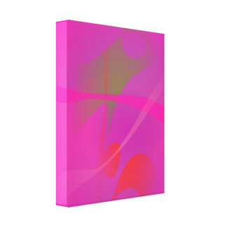 Japanese Pink Gallery Wrapped Canvas