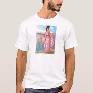 Japanese pink kimono T-Shirt