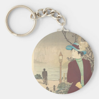 Japanese Polychrome woodblock print Key Ring