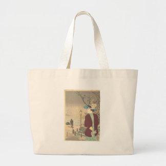 Japanese Polychrome woodblock print Large Tote Bag