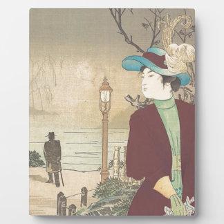 Japanese Polychrome woodblock print Plaque