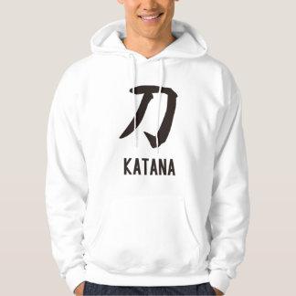 "Japanese popular kanji ""KATANA"" Hoodie"