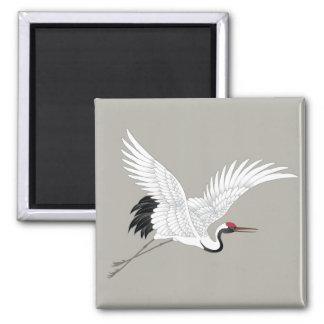 Japanese Red Crowned Crane Fine Art Magnet