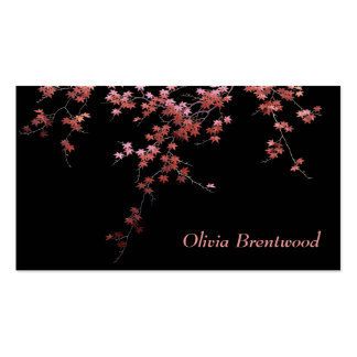 Japanese Red Maple Leaves Double-Sided Standard Business Cards (Pack Of 100)