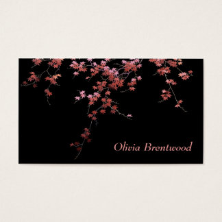 Japanese Red Maple Leaves Business Card