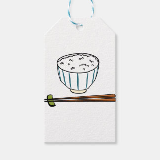 Japanese Rice Bowl Gift Tags