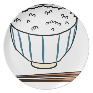 Japanese Rice Bowl Plate