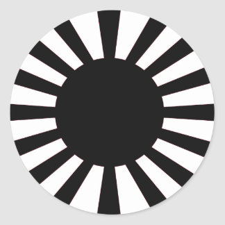 Japanese Rising Sun Flag Classic Round Sticker