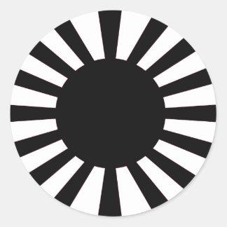 Japanese Rising Sun Flag Classic Round Sticker