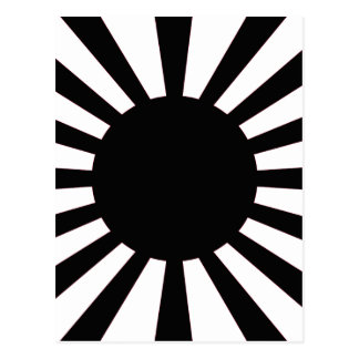 Japanese Rising Sun Flag Postcard