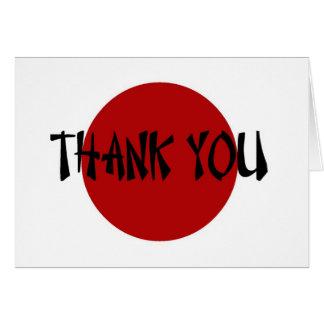 Japanese Rising Sun Thank You Card