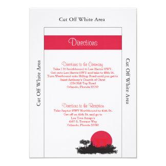 Japanese Rising Sun Wedding Directions Card 13 Cm X 18 Cm Invitation Card