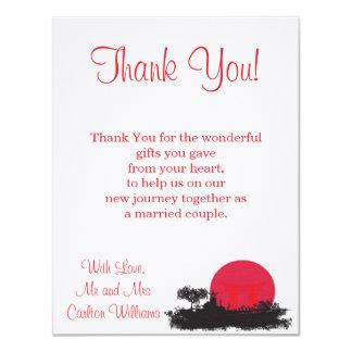 Japanese Rising Sun Wedding Flat Thank You Card 11 Cm X 14 Cm Invitation Card