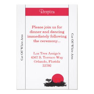 Japanese Rising Sun Wedding Reception Card 13 Cm X 18 Cm Invitation Card