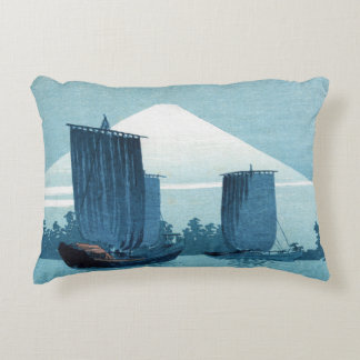 Japanese Sailboats Pillow