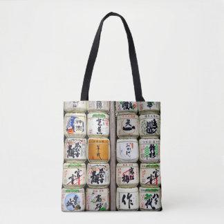 Japanese Sake Barrels Tote Bag