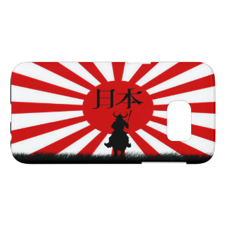 Japanese Samurai and Flag of Japan Phone Case