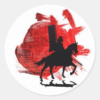 Japanese Samurai Classic Round Sticker