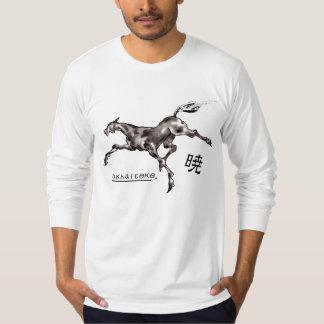 Japanese samurai horse art equestrian sumi shirts